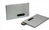 Metalowa pamięć USB kształt karty