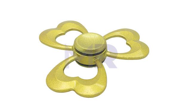 złoty metalowy spinner