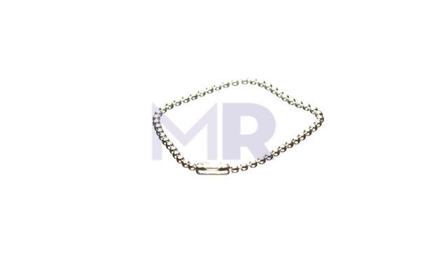 Krótki srebrny łańcuszek kulkowy