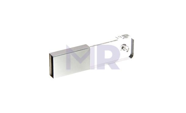Mini pendrive pół na pół szklany i metalowy