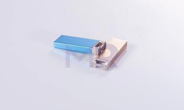 Nowoczesne mini USB zloty i niebieski