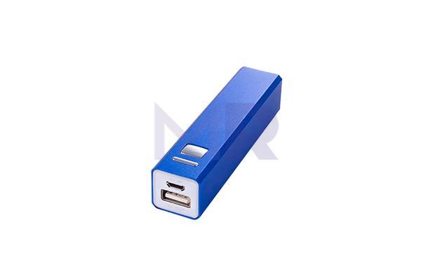 kwadratowy powerbank niebieski