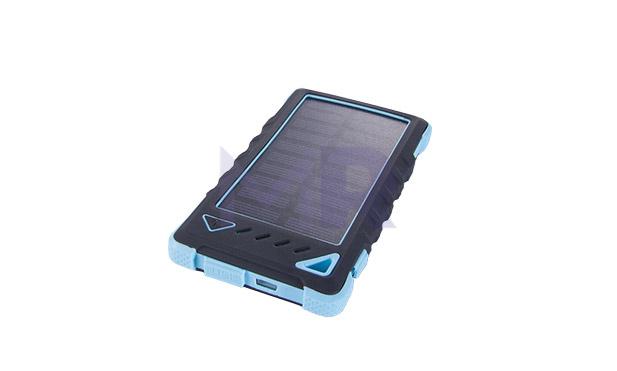 solarny powerbank z panelem slonecznym kwadratowy