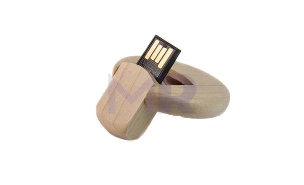 Pendrive drewniany w kształcie kółeczka