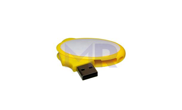 Okrągła pamięć USB w dwóch kolorach