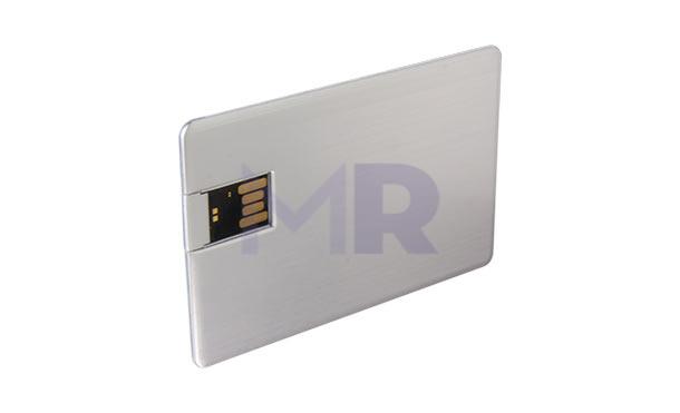 Aluminiowa karta USB pod grawer lub nadruk