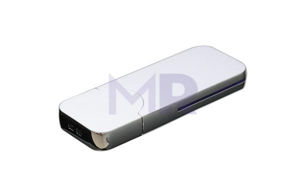 Klasyczny srebrny pendrive z duża powierzchnią do zadruku