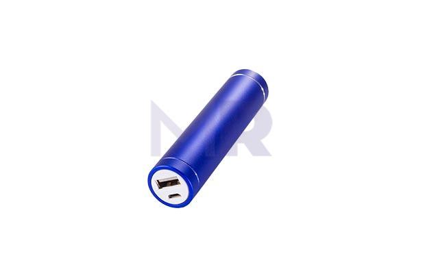 powerbank w ksztalcie walca w kolorze niebieskim