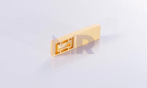 Nowoczesne mini USB w kolorze zlotym dwa
