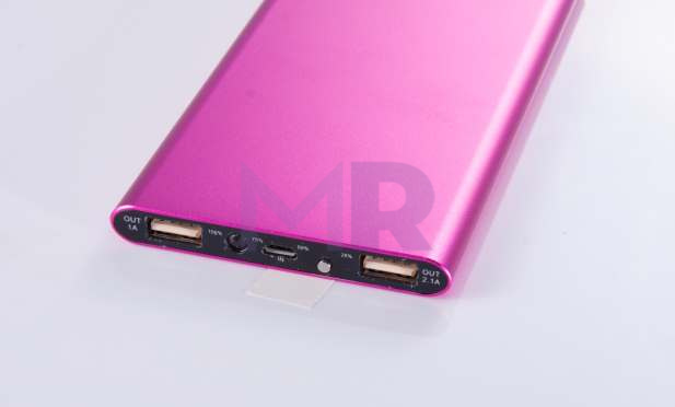 powerbank ultra slim metalowy rozowy