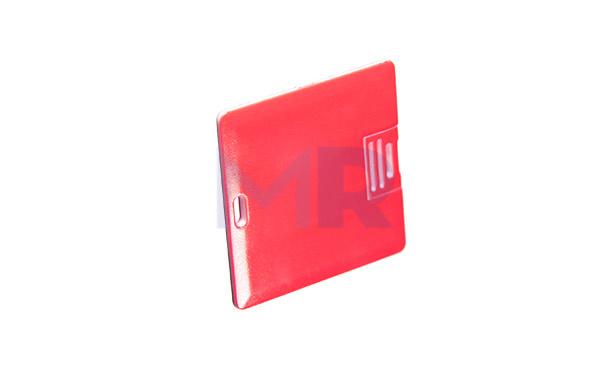 Kwadratowa karta z USB pole zadruku na całej wielkości