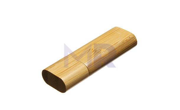 Drewniana pamięć USB z zaokrąglonymi kątami