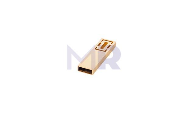 Nowoczesne mini USB w kolorze zlotym