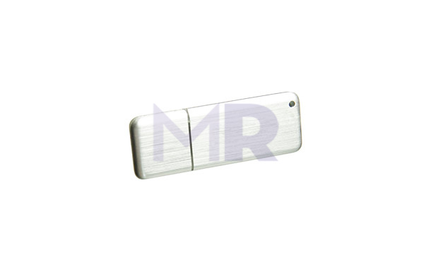 Srebrny pendrive idealnie przystosowany do nadruku i graweru