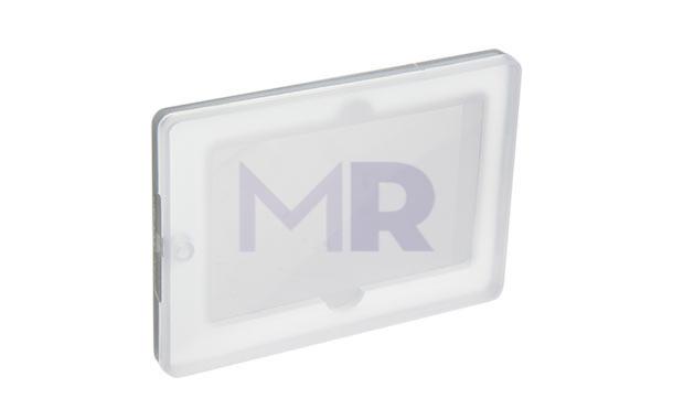 Plastikowe pudełko na karty z pendrive'm.Praktyczne chroniące kartę przed zarysowaniem